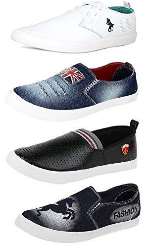 Tempo Men's Combo Pack of 3 Loafers & 1 Sneakers-10