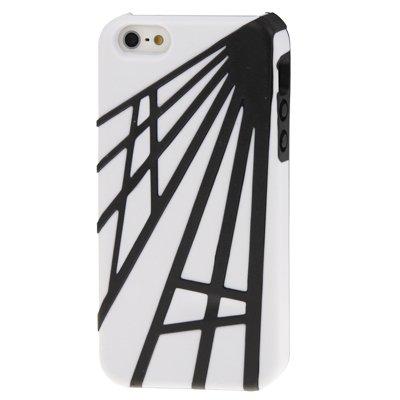 """iPhone 5/5S Coque/Étui en TPU en blanc/noir de style """"diffuse-Original seulement de thesmartguard"""