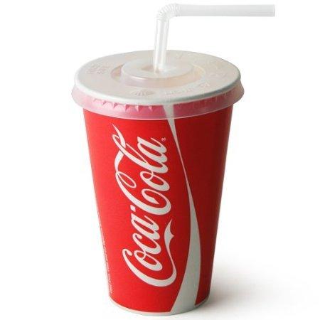 De Sortie – 1000 x Coke/Coca Cola Papier Cups 340 g/300 ml paille fente couvercles + Transparent + 1000 x 1000 x Pailles – Transparent pour Fast Food Restaurant Plats à emporter Événements Anniversaires Mariages Fêtes