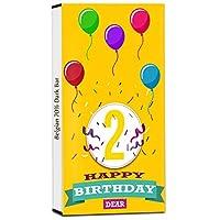 Chocholik Birthday Day Gift – Greatest Birthday Ever 70% Dark Belgium Chocolate Bar - 100gm (3.5Oz)