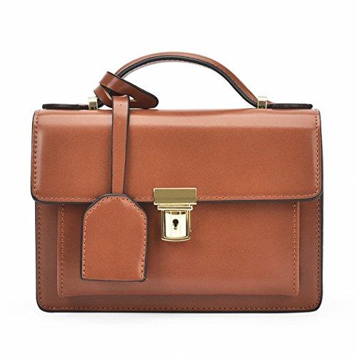 Kleine Klare Einfache Messenger Weibliche Schulter Kette Kleine Quadratische Tasche Braun
