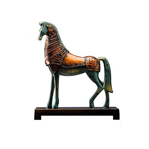 Wham Moon Escultura Estatuilla Estatua Adorno Artesanía, Resina de Caballo Escultura Animales...
