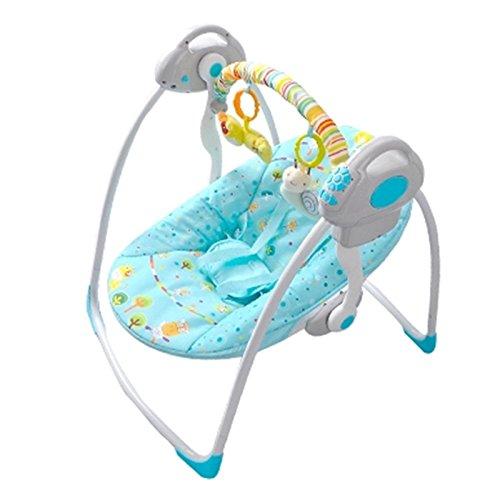 NWYJR Baby Wippe Neugeborenen Vibration bequem Zeit elektrische Multifunktions Musik faltbare automatische Swi