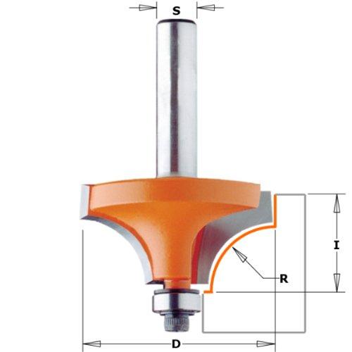CMT Orange Tools 939,167,11 Fraise r.concavo rodam. hm-s avec 16,7 2 r 8 d