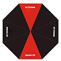 MG Motor Official MG3 Black Red Stripe Golf Automatic Open Umbrella
