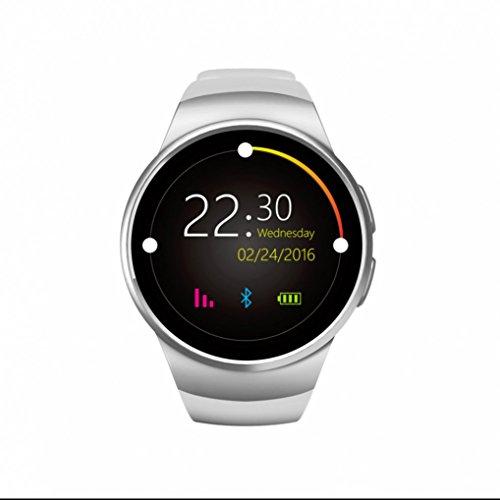 Intelligent Bracelet Extérieurs Sports Montre Bluetooth smartwatch Etanche avec SIM/TF Carte,Prendre des Photos,surveillance de la fréquence cardiaque,Ecran LCD Autonomie,Femme Homme Pour iPhone Android