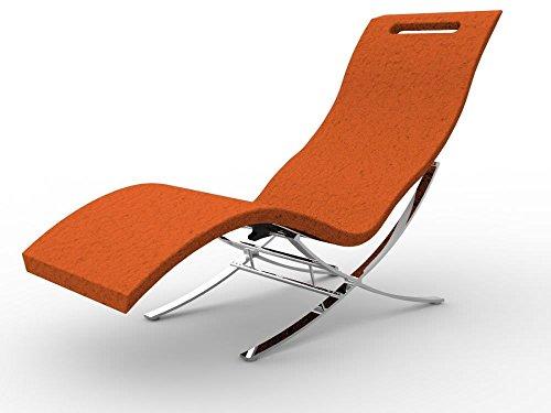 Chaise relax Arkema S120 - 2009 Chaise longue orange de intérieur réalisée en polyéthylène à haute densité avec Surface effet pierre lit professionnel Résiste aux UV, à la salsedine et au calcaire ergonomique léger et facilement igenizzabile