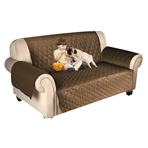 Dexinx Wasserdichte Sofa Protector Schutzhülle Hund Katze Pet Wasserdichte Möbel Schutzhülle Leichter Kaffee 116 * 188cm