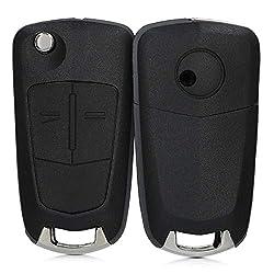 kwmobile Gehäuse für Opel Vauxhall Autoschlüssel - ohne Transponder Batterien Elektronik - Auto Schlüsselgehäuse für Opel Vauxhall 2-Tasten Klappschlüssel Autoschlüssel - Schwarz