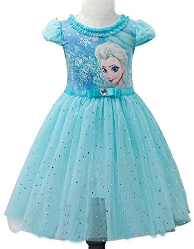 Elsa Kleid Und Anna (Eyekepper Kind-Maedchen-Karikatur Elsa Prinzessin Cosplay Gitter-Blase)
