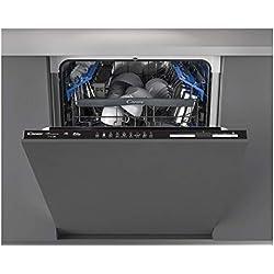 CANDY Lave vaisselle tout intégrable 60 cm CDIN2D520PB - 15 Couverts - Full intégrable - Electronique : Digit - 43 dB - 10 L. - NB Prog. : 9 -