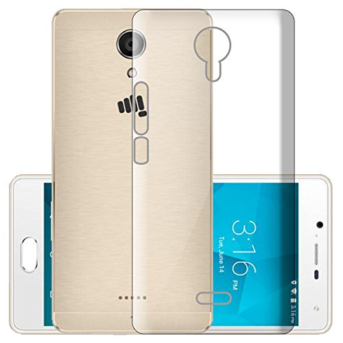 ECellStreet Exclusive Transparent Soft Back Case Cover Back Cover For Micromax Canvas Fire 5 Q386