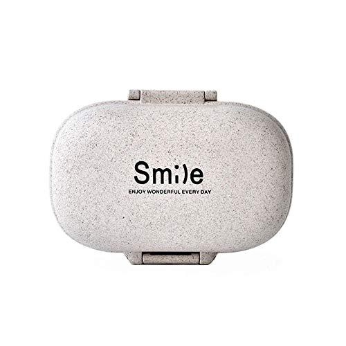 Wawer Tragbare Pillendose Reise Pillenbox Medizin Pille Vitamin Aufbewahrungsbox Fall Storage Dispenser Organizer Halter (B) - Storage Dispenser
