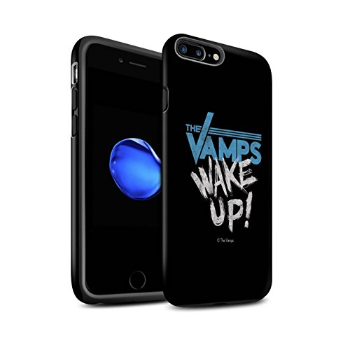 Offiziell The Vamps Hülle / Matte Harten Stoßfest Case für Apple iPhone 7 Plus / Weiß/Schwarz Muster / The Vamps Graffiti Band Logo Kollektion Aufwachen!