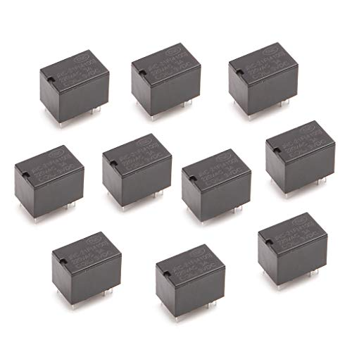 BIlinli 10pcs JRC-21F 4100 DC Mini Power Relay 6-pin PCB Mount Circuit Board Relays 3V 5V 12V -