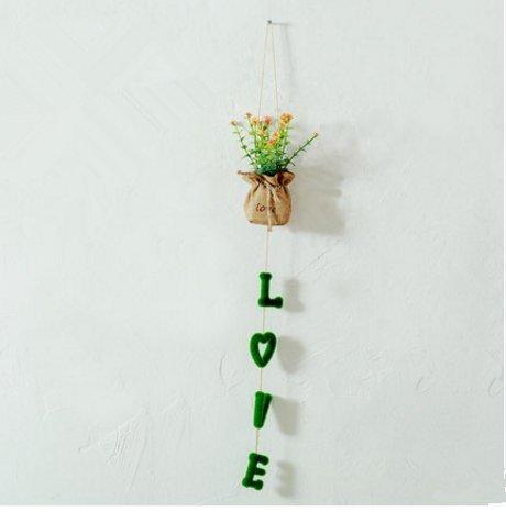 Vine Bracket (UChic 1 STÜCKE Kreative Simulation Tuch Blumentopf Körbe Hochzeit Multi-Layer Hängen Pastoralen Wand Dekoration Bei Stil Nach Dem Zufall)