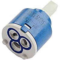 40806 ADOB Geschirrbrause Ersatz K/üchenbrause Sp/ülbrause verchromt mit Antikalknoppen f/ür Niederdruckarmaturen ohne R/ückflussverhinderer