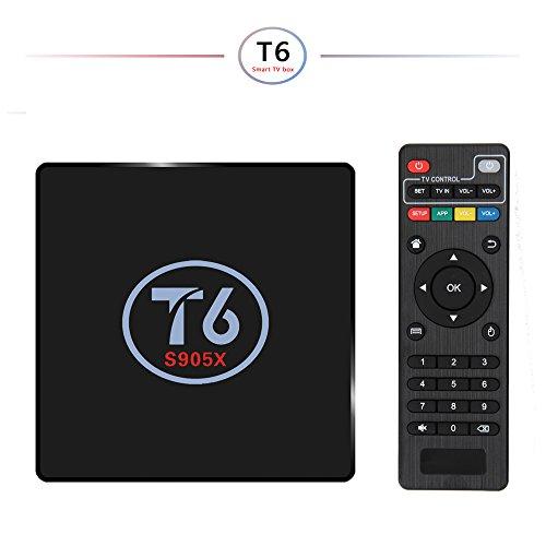 Android TV Box Smart Box YouFu T6 Android 6.0 Box Quad Core CPU Penta-Core Mali-450MP GPU 4K HD 1Go / 8Go 2.4GHz WiFi LAN Média Player