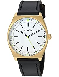 Nixon Women's 'Crew Leather' Quartz Stainless Steel Casual Watch, Color:Black (Model: A11882769)