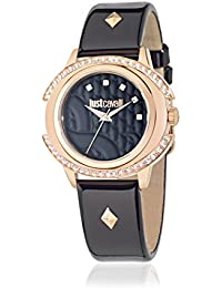 JUST CAVALLI Damen-Armbanduhr Decor Analog Quarz Leder R7251216501