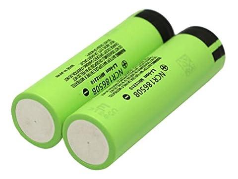 Panasonic Batterie 2x NCR18650B 3.7V 3400mAh + Boîte