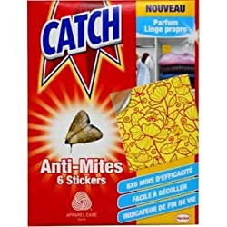 CATCH - Anti polillas de la ropa x 6 stickers