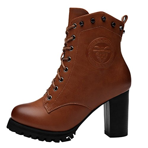 fq-real-womens-rivets-studded-lace-up-zipper-chunky-heel-platform-ankle-booties-4-ukbrown