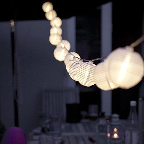 Eleganbello, Catena Luminosa, Striscia di Luci, 4m, 20 LED, Lanterne, Funziona con Batteria, Lucine Decorative per Interno e Esterno