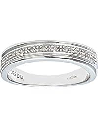 Naava Women's 9 ct White Gold Diamond Wedding Ring