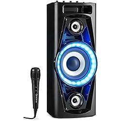 """auna UltraSonic Pulse V6-40 - Système Audio , Haut-Parleur soirée , Subwoofer de 5,5 """" , 2 tweeters médium de 1,7 """" , Puissance de 40 W RMS , Bluetooth , 2 Ports USB , AUX , Noir"""