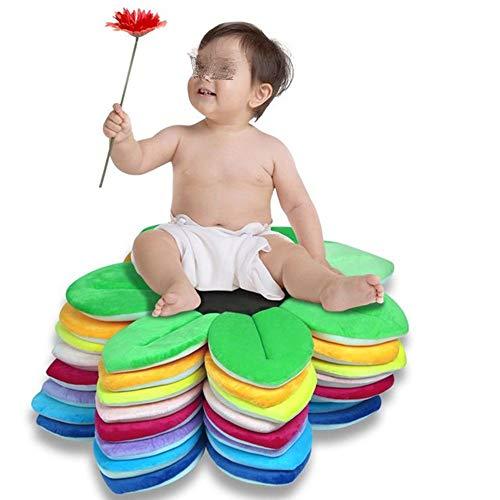 QuRRong Baby-Badematte Badblume Badematte Baby-Dusche Babywanne Rosette Rosenblütenbad Matte Baden Anti-Rutsch-Kissen (Farbe : Pink, Size : 80x80cm) -