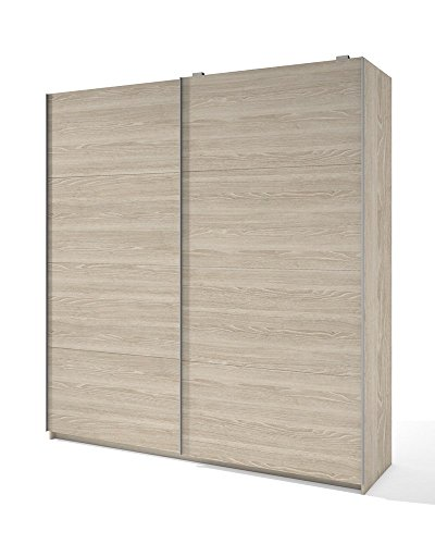 Liquidatodo®–armadio a 2 ante scorrevoli moderno ed economico, 201 cm, color sabbia.