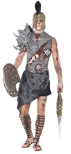 Smiffys, Herren Zombie-Gladiator Kostüm, Brustteil, Schulterteil und Rock, Größe: L, 32886