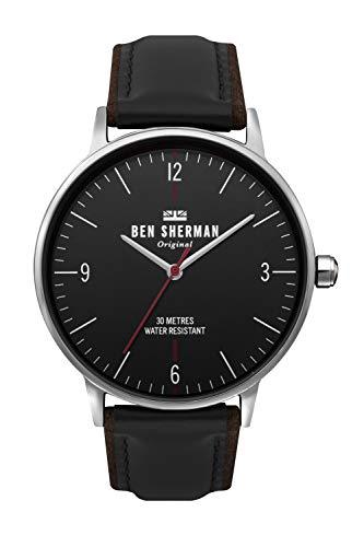 Ben Sherman Hommes Analogique Quartz Montre avec Bracelet en Cuir WB021B