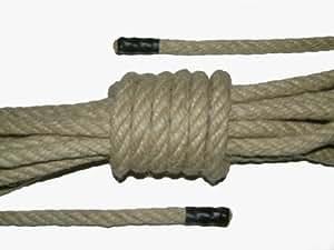 Hanf Seil - Länge: 15m, Ø: 8mm - Seilenden: Schwarz. (EUR 1,13 / m)