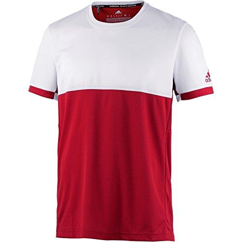 adidas Herren Oberbekleidung T16 Climacool Short Sleeve Tee, rot, XXL, AJ8778