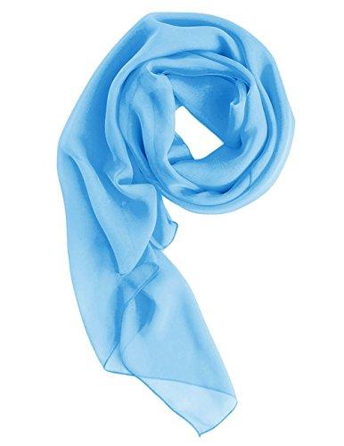 Dresstells Chiffon Schal Stola für Abendkleider in verschiedenen Farben Blue 200cmX75cm