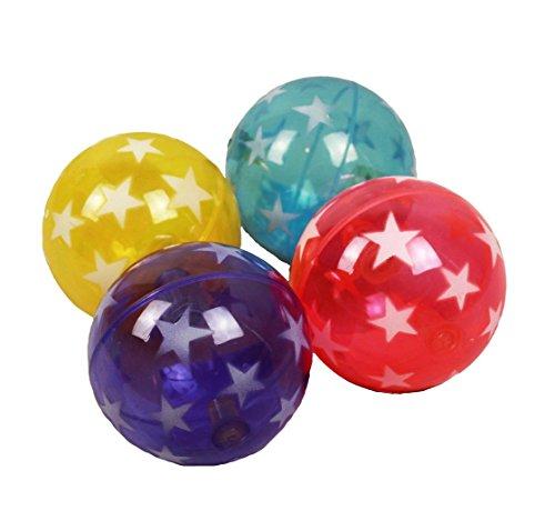 HAAC Led Ball mit Licht blinkender Flummi Flummiball Gummiball mit Sternen 7,5 cm