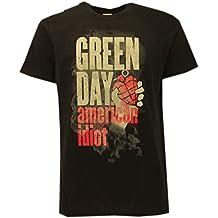 t-shirt NERA GREEN DAY, American idiot- maglietta originale -spedita da T-shirteria- XS S M L XL