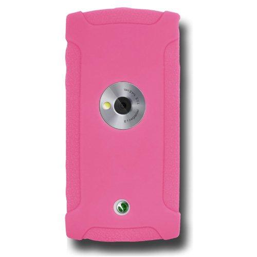 Amzer - Custodia in Silicone per Sony Ericsson Vivaz, Colore: Rosa Confetto