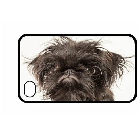 Griffon Bruxelles (colore: nero) per IPHONE 5, motivo: cane, 49 cm, colore: bianco