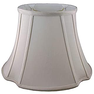 American Pride Lampshade Co. 74-78091517 Oval Soft Tailored Lampshade, Shantung, Croissant