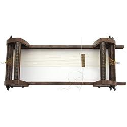 Rayher - Estructura para tejer con cuentas (medidas regulables, 12x32 cm, 9,5 cm de ancho)