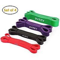 INTEY Bande Élastique Fitness Bande de Résistance pour Fitness, Yoga, Entrainement Crossfit et Motrice, Entrainement Corps, Jambes, Fessier