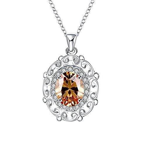 LoveDua Elegante Zirkon-Halskette für Frauen, Geburtstag Anhänger vergoldet Geschenke für Bridesmaid Hochzeit Girl 's Presents