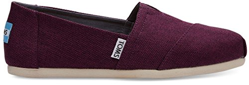 Toms Classic Black Cherry Womens Canvas Espadrilles Shoes-7