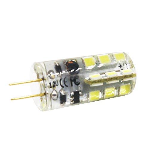 LED Perlen-Lampen G4 24 SMD 2835, 240 lm, 3 Walt entspricht 30 W Glühlampe oder Halogen Lampen, LED Energiesparleuchte, kaltweiß 6500 K AC12V /AC220V (1 Stück, AC 12 Volt) - 4