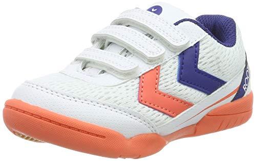 hummel Unisex-Kinder Root JR VC Handballschuhe, Mehrfarbig (Living Coral 3654), 29 EU