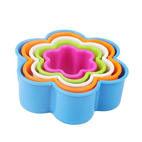 te Fondant Kuchen Cookie Zucker Handwerk Cutter Formen Dekorative Formen Form Werkzeug Set Kueche liefert in verschiedenen Groessen (Blumenform) ()