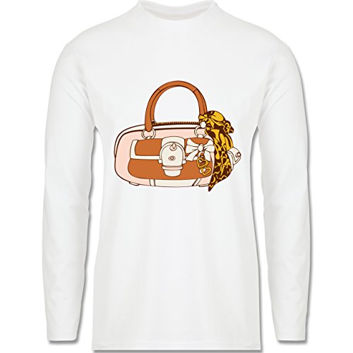 Symbole - Handtasche - Longsleeve / langärmeliges T-Shirt für Herren Weiß